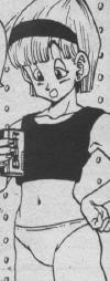 Bulma drinking beer while hanging around in her undies on her way to Namek o_0
