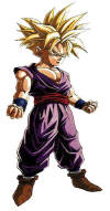 Gohan looking seriously threatening