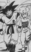 Mrs Briefs flirting (she was acutally asking Goku out on a friendly date!!) with Goku